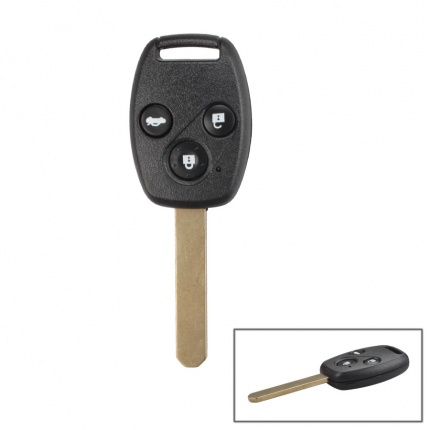 Remote Key 3 Button and Chip Fit ACCORD For 2005-2007 Honda FIT CIVIC ODYSSEY