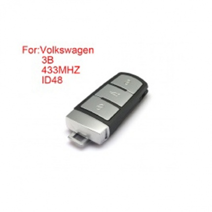 Smart Remote Key 3 Buttons 433MHZ.ID48 for Volkswagen Magotan CC (After market)
