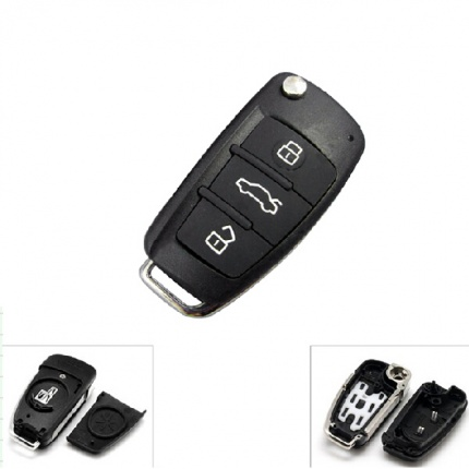 Remote Key Shell 3 Button for AUDI A6L 5pcs/lot