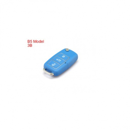 Remote Key Shell 3 Buttons With Waterproof(Blue) for Volkswagen B5 Type 5pcs/lot