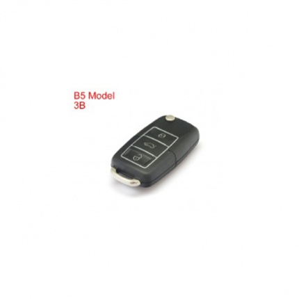 Remote Key Shell 3 Buttons With Waterproof(Black) for Volkswagen B5 Type 5pcs/lot