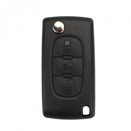 Remote Key Shell 3 Button For Peugeot Flip 5pcs/lot