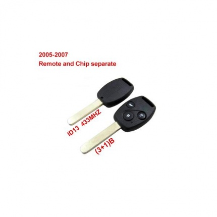 Remote Key (3+1) Button and Chip Separate ID:13 (433MHZ) For 2005-2007 Honda