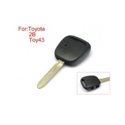 TOY43 Side Face Remote Key Shell 2 Buttons Easy to Cut Copper-Nickel Alloy without Logo for Toyota 10pcs/lot