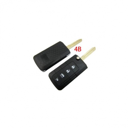Flip Remote Key Shell 4 Button for Nissan 5pcs/lot