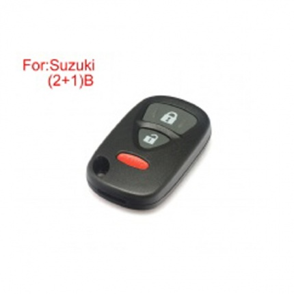 Remote Key Shell  (2+1) Buttons for Suzuki 5pcs/lot