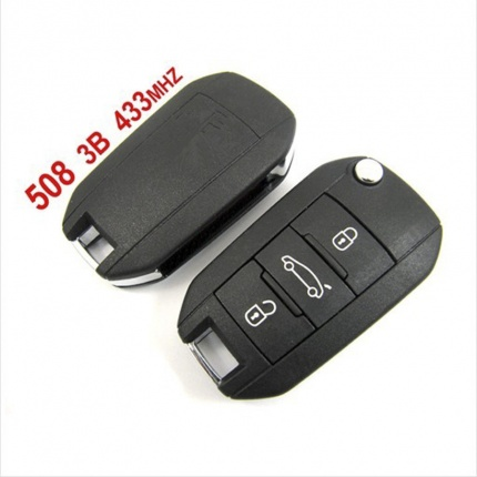 Remote 3 Button 433mhz for Peugeot 508