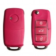 Remote Key Shell 3 Buttons With Waterproof(Red) for Volkswagen B5 Type 5pcs/lot
