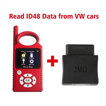 Handy Baby Hand-held Auto Key Programme Plus JMD Assistant OBD Adapter Read ID48 Data from VW Cars