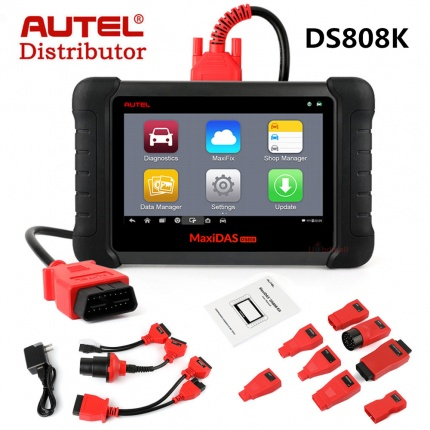 AUTEL MaxiDAS DS808 KIT DS808K Tablet Diagnostic Tool Full Set Support Injector & Key Coding Update Online