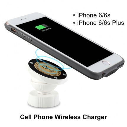 V-checker T205 wireless charger cell phone iPhone 6-6s Plus clip car power source