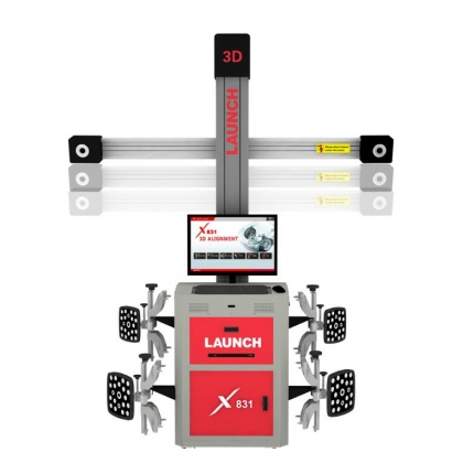 LAUNCH X831S+ X831 Plus 3D Wheel Aligner 4-Post Car Alignment Lifts Platform Supports Multi-language UNICODE
