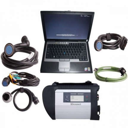 MB SD Connect Compact 4 MB Star Diagnosis Tool 2018.12 Plus Dell D630 Laptop With Vediamo and DTS Engineering Software