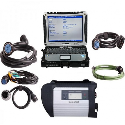 MB SD Connect C4/C5 Star Diagnosis with 2019.12 Super Engineering Software DTS monaco And Vediamo Plus Panasonic CF19 I5