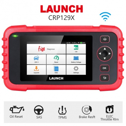 Launch X431 CRP129X OBD2 Code Scanner Supporting 4 System Diagnoses +5 Special Reset Tool
