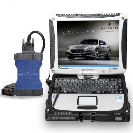 MASERATI MDVCI Diagnostic Tool Supports Programming with Maintenance Data plus Panasonic CF19 PC