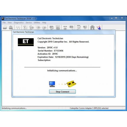 2019C Cat Caterpillar ET Cat ET 3 Software Caterpillar Electronic Technician With KeyGen Activation and Installation VD