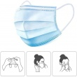 50Pcs/lot Disposable Protective Mask 3 Layer Nonwove Ply Filter Mouth Face Mask Anti-Dust Anti-Fog Meltblown Mouth Mask