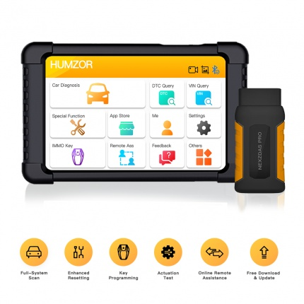 Humzor NexzDAS Pro Full System Auto Diagnostic Tool OBD2 Scanner with IMMO/ABS/EPB/SAS/DPF/Oil Reset