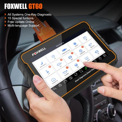 Foxwell GT60 OBD2 Professional Car Diagnostic Scan Tool Full System Code Reader 19 Special Functions
