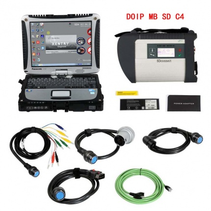 V2020.12 DOIP MB SD Connect C4 Star Diagnosis Plus Panasonic CF19 I5 Laptop With Vediamo and DTS Engineering Software