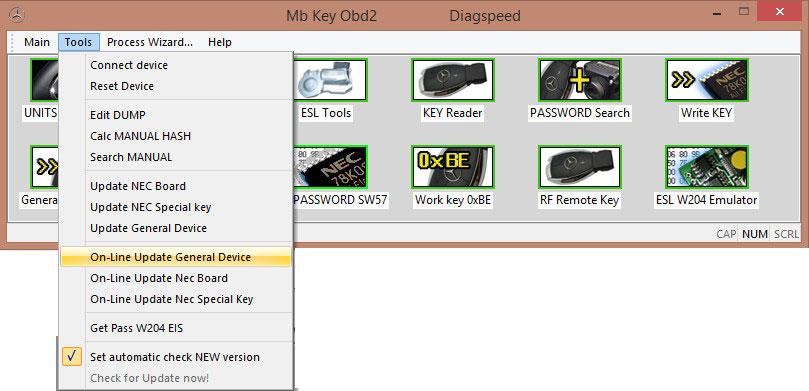 US$3,799 00 - Original V1 06 08 Diagspeed MB Key OBD2 Mercedes Benz