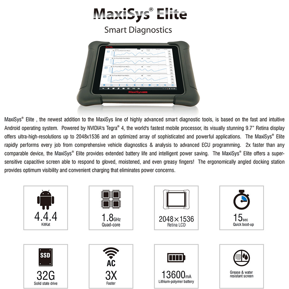 US$3,150 00 - Autel Maxisys Elite (Upgraded Version of