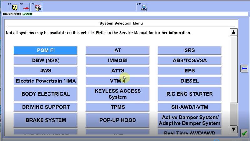 US$98 00 - HDS HIM Diagnostic Tool for Honda V3 102 051 Supporting