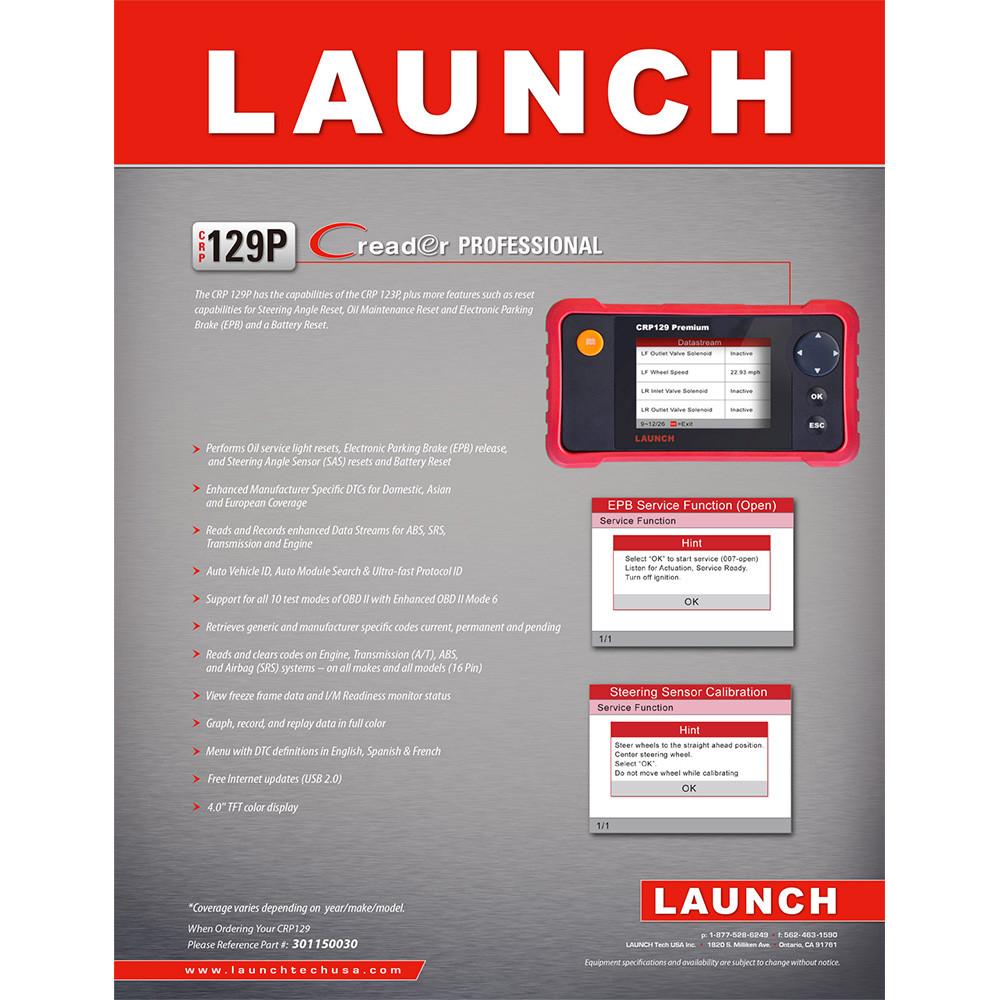 US$199 00 - LAUNCH Creader CRP129 PREMIUM CReader