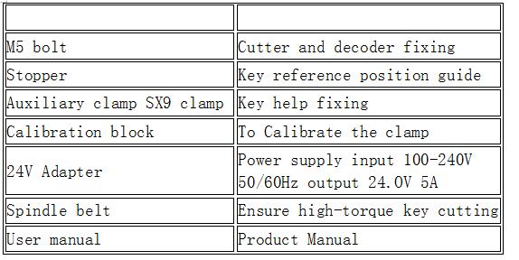 US$2,190 00 - SEC-E9 CNC Automated Key Cutting Machine Multi