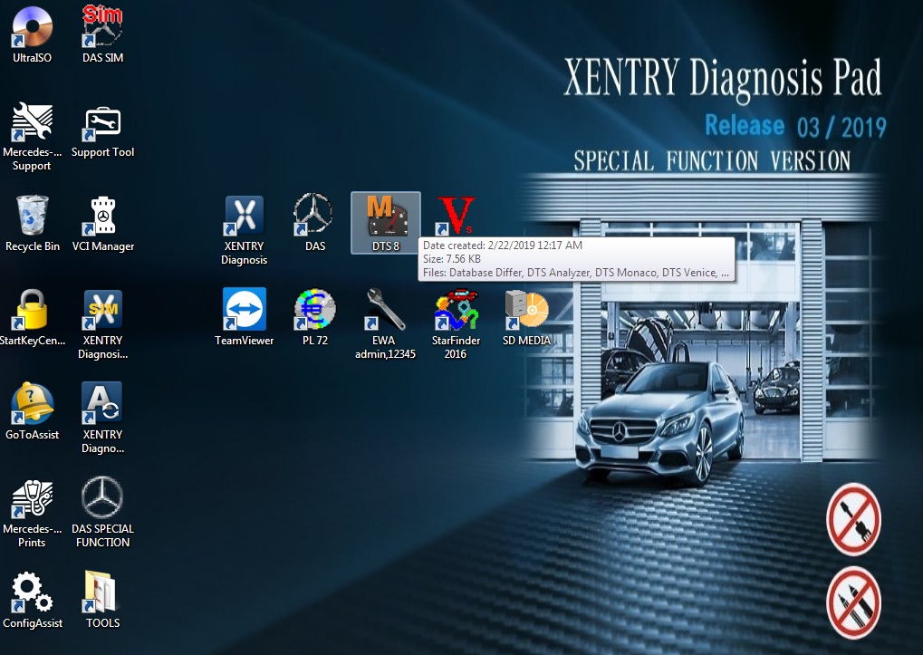 US$808 00 - V2019 07 Mercedes Benz Xentry diagnosis VCI BENZ